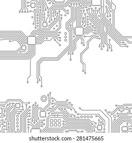 High-tech technology abstract background. Vector graphic template.