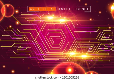 High-tech technology background texture. Circuit board vector background with electronic elements.illustration.