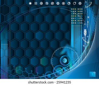 High-Technology internet background, vector layered.