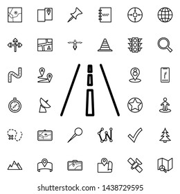 Highway icon. Universal set of navigation for website design and development, app development