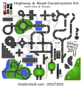 Highway Road construction Kit to Build your own, see my portfolio for other kits
