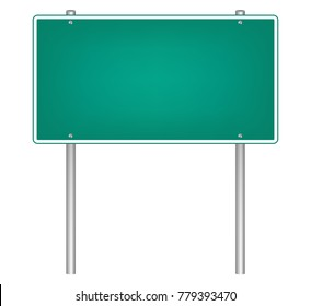 Highway road sign, vector design