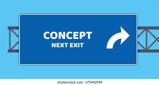 Highway Exit Sign Template Highway Exit Im...