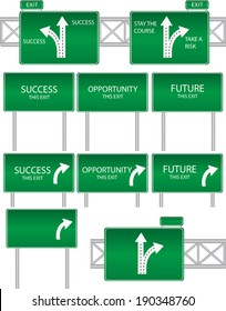 Highway Signs blank and goal driven