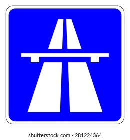 Highway signs Traffic signs - the beginning of a motorway