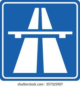 Highway signs Traffic signs.Motorway