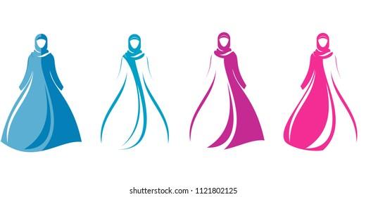 Hijab Logo Design, Female In hijab