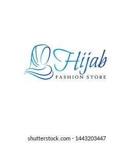 Hijab logo minimalist for muslim woman wear fashion store