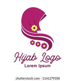 hijab logo with text space for your slogan / tag line, vector illustration