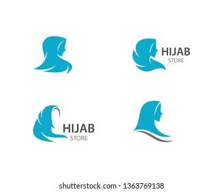 Hijab logo vector template