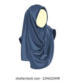Hijab muslimah vector