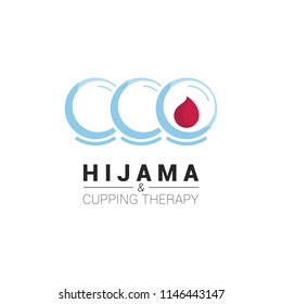 Hijama logo. Logo for person who make bloodletting /cupping therapy