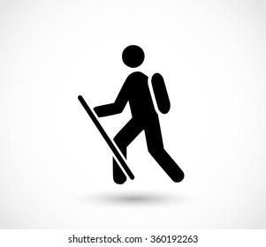 Hiker icon vector