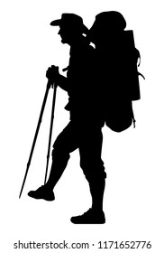 hiker silhouette images stock photos  vectors  shutterstock