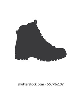 Hiking boot icon, vector illustration design. Camp objects collection.