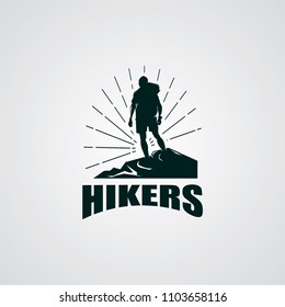 Hiking Club Expedition Logo Design Template