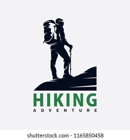 hiking logo design