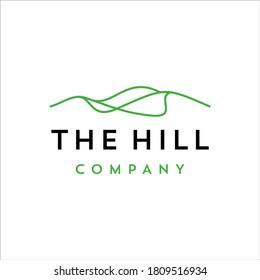 Hill with minimalist line design