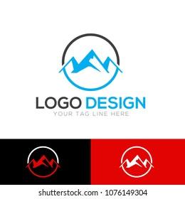 Hill and Mountain Logo Design Template Vector EPS