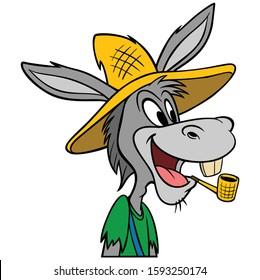 Hillbilly Mule - A cartoon illustration of a Hillbilly Mule mascot.