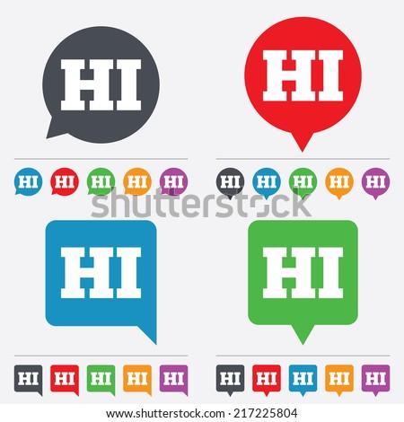 Hindi Language Sign Icon HI India Stock Vector (Royalty Free