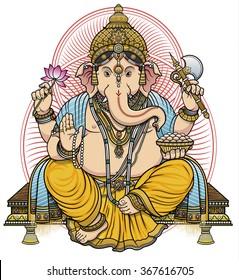 Hindu deity Lord Ganesha color