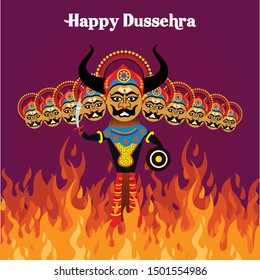 Hindu festival celebrated at the end of Navratri is Vijayadashami also known as Dasara, Dusshera or Dussehra. Devil Ravan is burning by shooted arrow of ram.