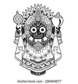 hindu god outline, indian