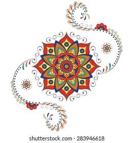 Hindu mandala - Lotus flower
