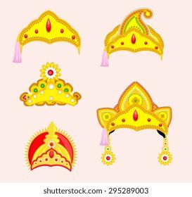 Hindu Mythological God's Crown Designs