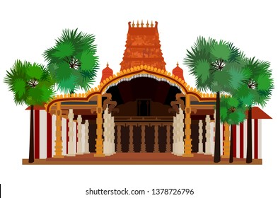 Hindu Temple \ Kovil Vector