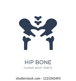 Hip Bone icon. Trendy flat vector Hip Bone icon on white background from Human Body Parts collection, vector illustration can be use for web and mobile, eps10