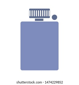 hip flask icon. flat illustration of hip flask vector icon. hip flask sign symbol