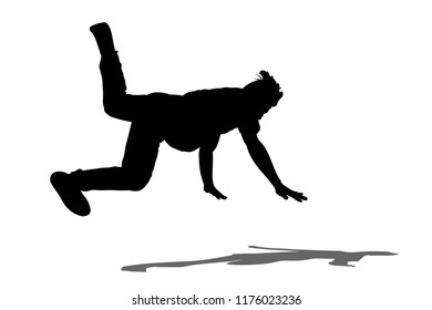 Hip Hop dancer performs the trick silhouette