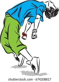 hip hop dancer vector illustration