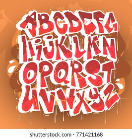 Hip Hop Graffiti Font Vector