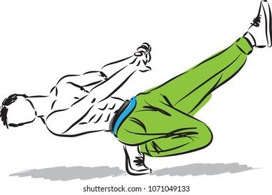 hip hop guy dancer vector illustration