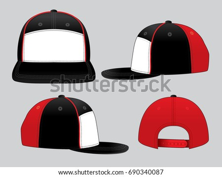 hip hop hats design template stock vector royalty free 690340087