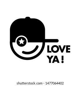 Hip Hop icon logo smile hat