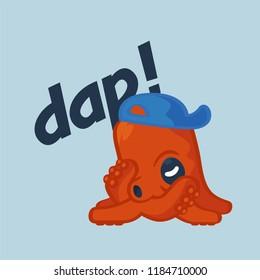 hip hop octopus character dap