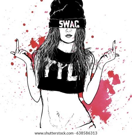 Hip hop swag girl