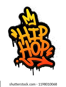 Hip Hop Tag Graffiti Style Label Lettering. Vector Illustration EPS 10