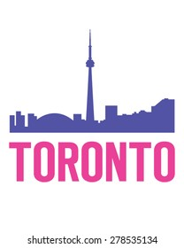 A hip and urban vector illustration of the Toronto skyline