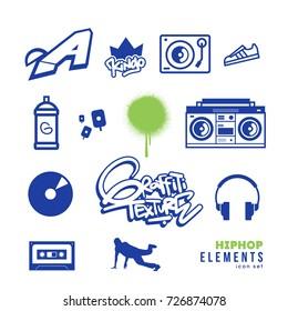 Hiphop Icon set