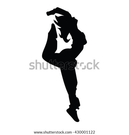 Hip-hop woman dancer vector silhouette isolated on white background 62ed0fed9e5