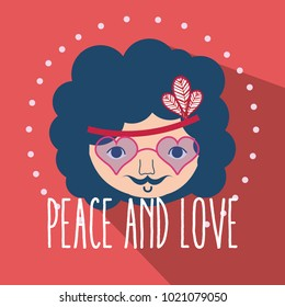 Hippie cute cartoon