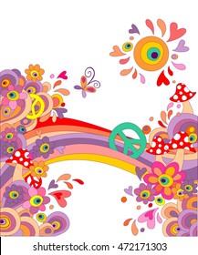 Hippie Birthday Images Stock Photos Vectors Shutterstock