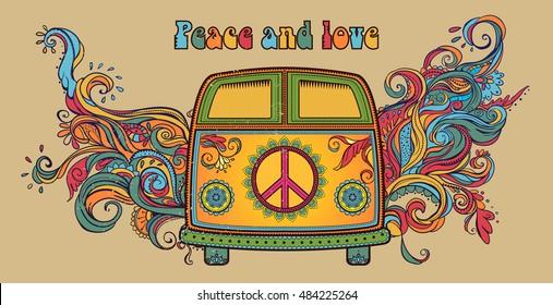 Hippie Van Images Stock Photos Vectors Shutterstock