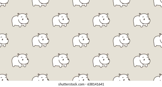 Hippo / Baby hippo / hippopotamus Seamless Pattern / background / wallpaper