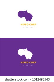 Hippo corporation logo template.